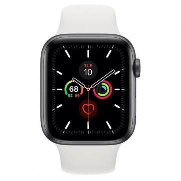 Apple Watch Series 5 44mm Aluminium Sportband Grijs Wit