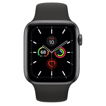 Apple Watch Series 5 44mm Aluminium Sportband Grijs Zwart