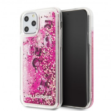 Karl Lagerfeld Apple iPhone 11 Pro Max Rose Gold Backcover hoesje Glitter