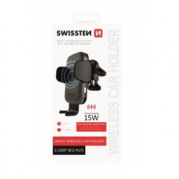 SWISSTEN Car Holder With Wireless Charger S-Grip W2-AV5