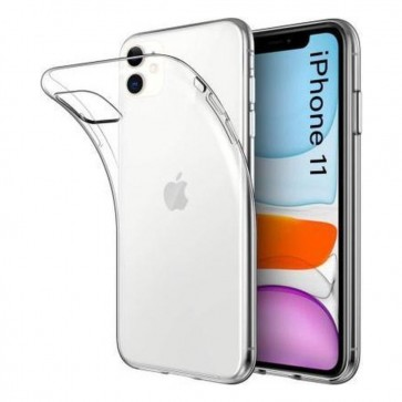 Apple iPhone 11 Siliconen Hoesje Transparant