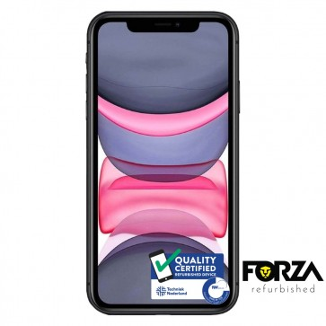 Forza Refurbished Apple iPhone 11 64GB Zwart B Grade