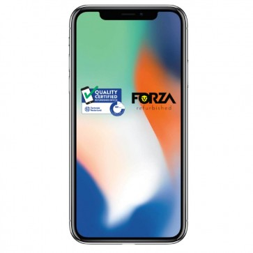 Forza Refurbished Apple iPhone X 64GB Zilver B Grade