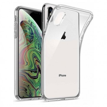 Apple iPhone XS Siliconen Hoesje Transparant