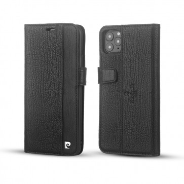Pierre Cardin Apple iPhone 11 Pro Max Zwart Bookcase Genuine Leather