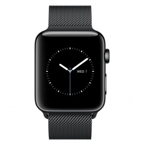Apple Watch Series 2 38mm Space Black Stainless Steel, Milanese Loop Space Black Stainless Steel