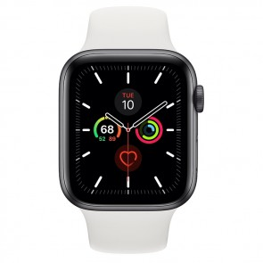Apple Watch Series 5 44mm Aluminium Sportband Grijs Wit