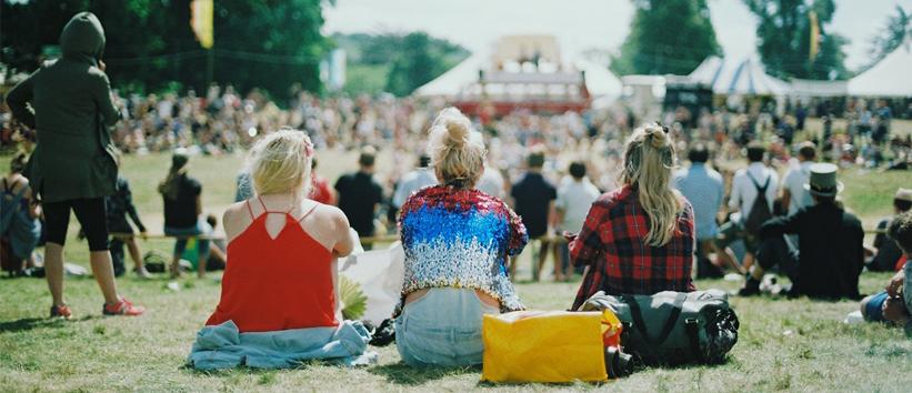 Festival vriendengroep